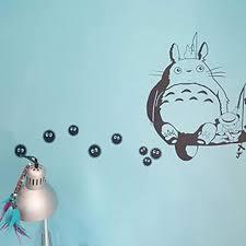 Amazon Com Wall Decal Cute Kawaii Vinyl Wall Anime Decals Totoro Soot Sprites Wall Art Applique For Nursery Kid Bedroom Home Kitchen