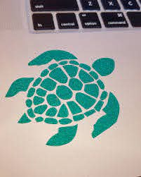 Sea Turtle Vinyl Decal Available In Several Colors Glitter And Holographic Vinyl Visit My Etsy Shop Link To Store Is Sea Turtle Decal Sea Turtle Vinyl Decals