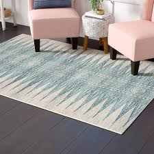 ivory navy blue area rug