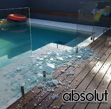 damaged pool fence glass some ideas
