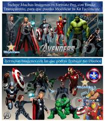 Kit Imprimible Los Vengadores The Avengers Invitaciones