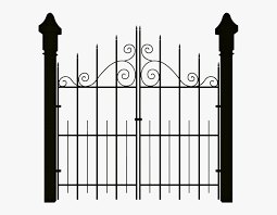 Fence Clipart Spooky Haunted House Gate Png Free Transparent Clipart Clipartkey