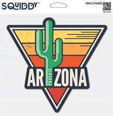 Amazon Com Squiddy Arizona Vinyl Sticker Decal For Phone Laptop Water Bottle 2 5 Wide Home Kitchen