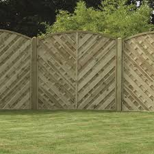 V Arched Boarded Fence Panel Pressure Treated Free Delivery Available Fsc