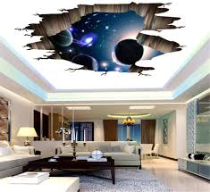 Amazon Com Quaanti 3d Space Wall Stickers Magic Galaxy Floor Wall Decals Removable Mural Decorations For Kids Bedroom Ceiling Living Room Nursery Home Decor C Home Kitchen