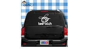 Amazon Com Car Decal Geek Beeotch Bitch Vinyl Decal Sticker Bumper Cling For Car Truck Window Laptop Macbook Wall Cooler Tumbler Die Cut No Background Multi Sizes Colors White 8 Automotive