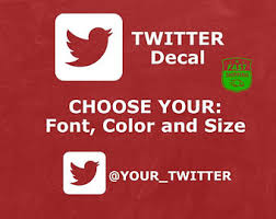 Twitter Decal Etsy