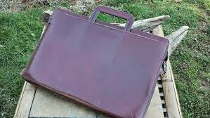 top grain leather attache briefcase