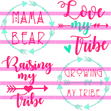 Mama Bear Decal Love My Tribe Decal Raising My Tribe Decal Growing My Tribe Decal Vinyl Decal For Car Decals For Yeti Cups Vinyl Decals Car Decals
