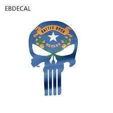 Ebdecal Style Battle Born Nevada Punisher Skull Auto Car Bumper Window Wall Suitcase Decal Sticker Decals Diy Decor Ct12860 Car Stickers Aliexpress