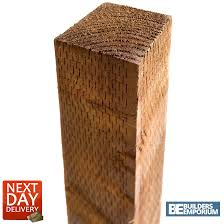 Timber Treated Fence Posts 3 X 3 X 8ft 2 4m Long Premium Quality 5060435371408 Ebay
