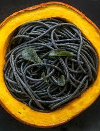Squid Ink Pasta with Pumpkin, Sage and ...