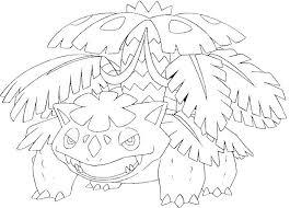 Kleurplaat Pokemon Mega Evolutie Mega Venusaur 3 3