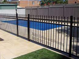 Prevent Your Kids And Pets From The Pool Hazards With Aluminium Fences Auto Gates Fencing In 2020 Metal Fence Panels Metal Fence Fence Panels