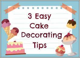 3 easy cake decorating tips