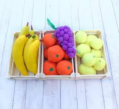 FULL SIZE Felt Banana Pretend Fruit Play Food Montessori Toys ...
