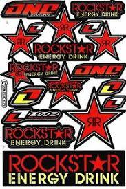 Red Rockstar Energy Motocross Vinyl Graphic Kits Decal Bike Car Sticker R7 Ebay