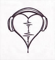 headphones sketch hd wallpaper