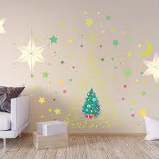 Shop Walplus Glow Stars Moon Christmas Tree Window Wall Sticker Home Decor Overstock 31950819