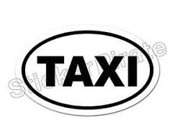 Oval Car Magnet Taxi Magnetic Bumper Sticker Ebay
