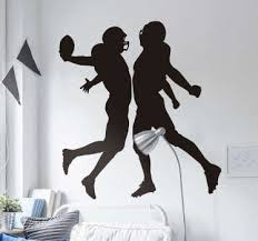 American Football Vinyl And Wall Decals Style Silhouette Tenstickers