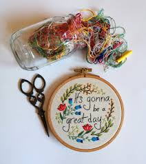 it s gonna be a great day funny hand embroidery wall decor