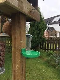 Birdbath Feeder Fence Or Post Mounted For Bird Table Bath Drink Water Bowl Ebay