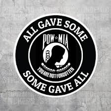 Pow Mia Veteran Sticker Vinyl Decal Prisoner Of War Laptop Car Auto Ebay