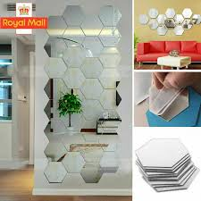 36 x 3d mirror tiles mosaic wall