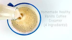 homemade healthy vanilla coffee creamer