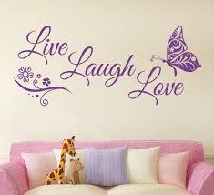 Live Laugh Love Butterfly Flower Wall Art Sticker Modern Wall Decals Quotes Vinyls Stickers Wall Stickers Home Decor Living Room Bestdealplus