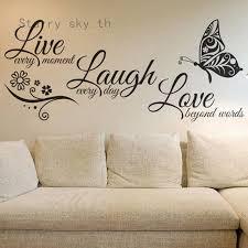 Home Garden Children S Bedroom Boy Decor Decals Stickers Vinyl Art Live Every Moment Laugh Every Day Love Beyond Words Vinyl Wall Sticker Decor