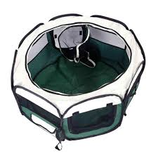 Kennels Fences Pet Tent Hobbyzoo 36 Portable Foldable 600d Oxford Cloth Mesh Pet Playpen Fence With Eight Panels Green Fence Aliexpress