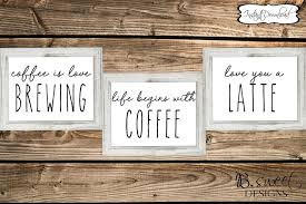 coffee prints set of prints coffee quotes coffee is