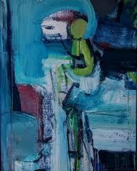 "June Johnson - ""Bull And Toreador"", Painting, Acrylic on Canvas ..."