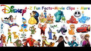 disney characters a z disney alphabet