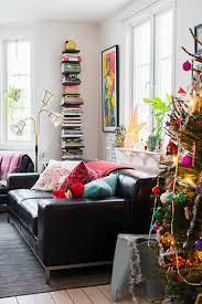 tree black leather sofa