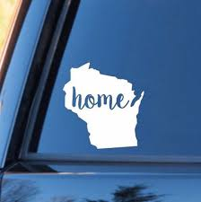 Wisconsin Home Decal Wisconsin Decal Homestate Decals Love Sticker Love Decal Country Decal Car Personalized Vinyl Decal Wisconsin Truck Stickers