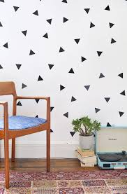 Diy Removable Triangle Wall Decals Diy Wall Decals Diy Triangle Wall Diy Wall Decals Tutorials