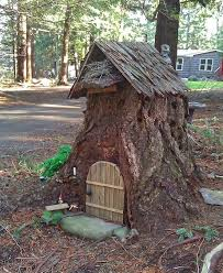 tree stump fairy house other trendy