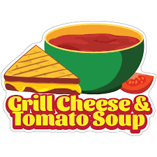 Grilled Cheese And Tomato Soup 24 Decal Concession Stand Food Truck Sticker Sold By Vision Graphic Rakuten Com Shop