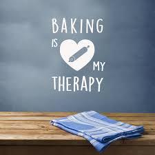Baking Is My Therapy Baking Decal Wall Vinyl Mug Vinyl Decal Vinyl Bloomandanchor