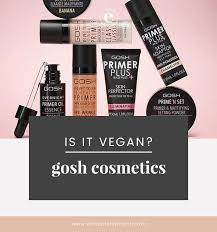 gosh cosmetics vegan