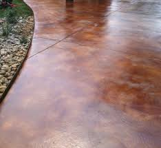 stain a concrete patio yourself