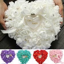 جديد أنيق روز هدايا لحفلات الزفاف على شكل قلب تصميم خاتم هدية