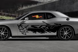 Dodge Demon Challenger Srt Side Splash Logo Car Mopar Vinyl Decal Graphic Grunge