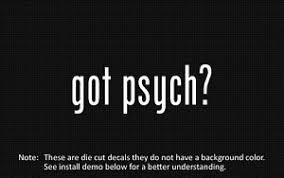2x Got Psych Sticker Die Cut Decal Vinyl Ebay