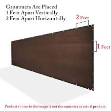 Colourtree 8 Ft X 50 Ft Heavy Duty Plus Brown Privacy Fence Screen Mesh Fabric With Extra Reinforced Grommets For Garden Fence Tap0850p 10 The Home Depot