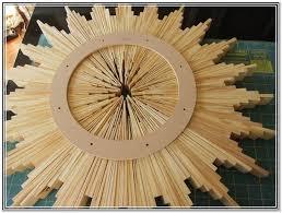 diy wood sunburst mirror home design