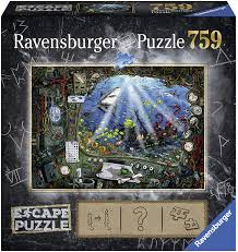 Amazon Com Ravensburger Escape Puzzle Submarine 759 Piece Jigsaw Puzzle For Kids And Adults Ages 12 And Up An Escape Room Experience In Puzzle Form Toys Games